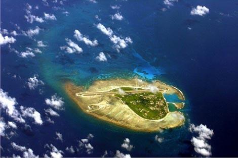 Quần đảo Hoàng Sa chụp từ máy bay trinh sát - DR