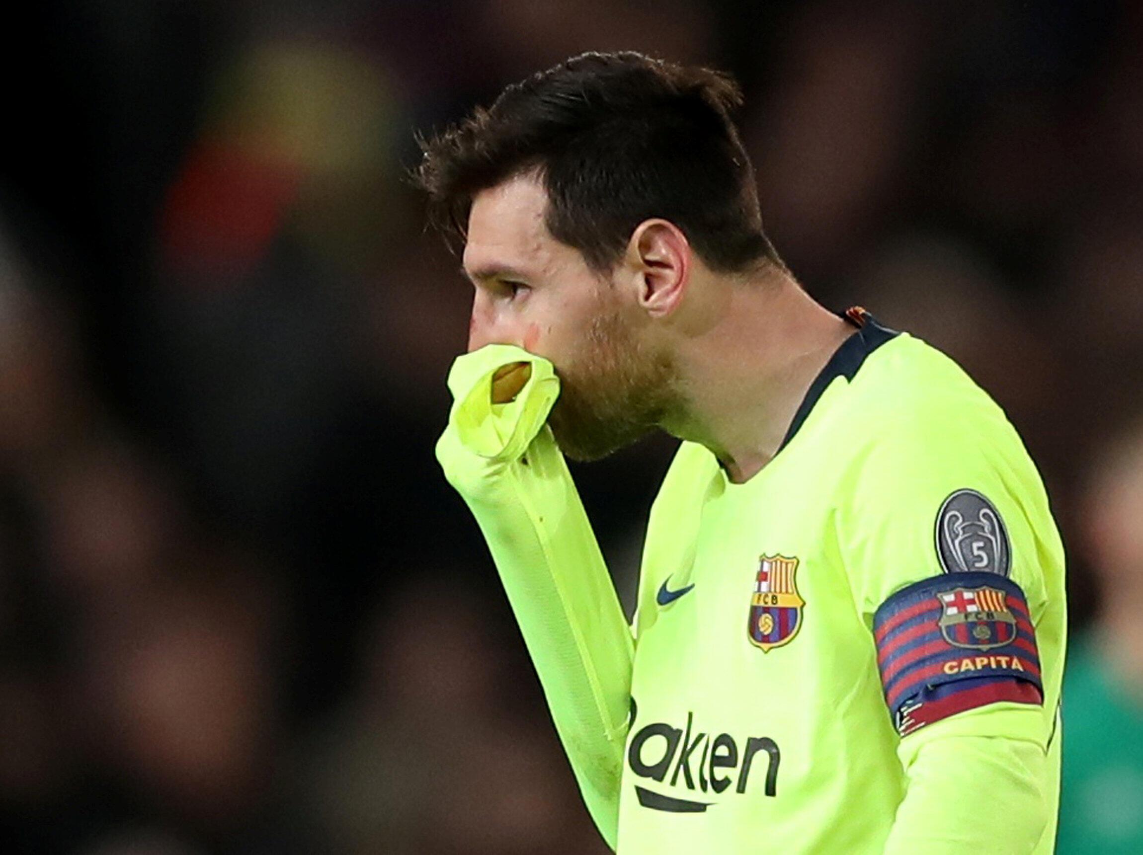 Lionel Messi a Old Trafford