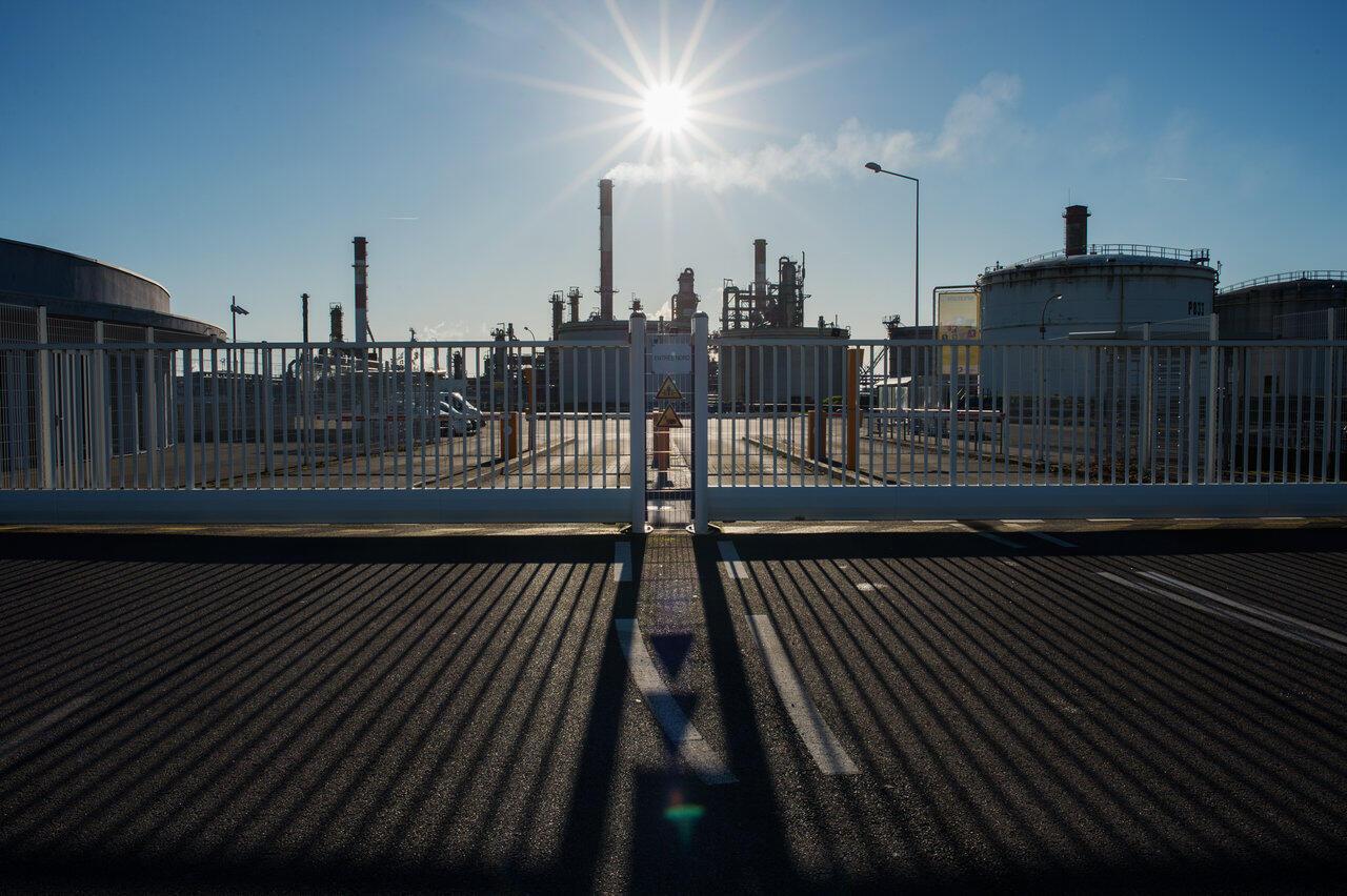 A refinaria de Donges em 2 de dezembro de 2019.