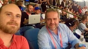Antoine Grognet_Olivier Pron_journalistes sports RFI - Radio foot internationale 3 juin 2021 - fête de la radio