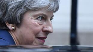 La Première ministre britannique, Theresa May, quitte sa résidence officielle, le 14 novembre 2018.