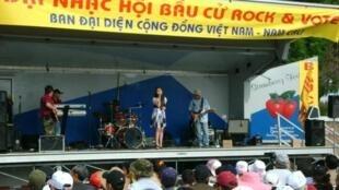 Một buổi ca nhạc vận động bầu cử của cộng đồng người Việt tại California