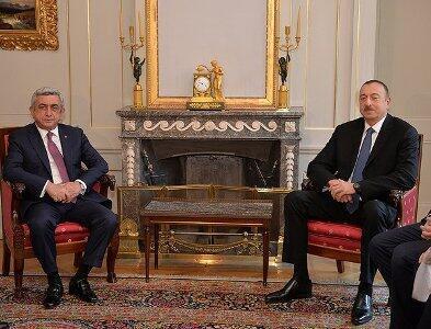 Президенты Армении и Азербайджана, Серж Саргсян и Ильхам Алиев в Берне
