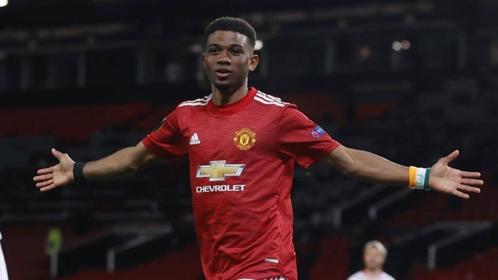 Ligue Europa: premier but de l'espoir ivoirien Amad Diallo, 18 ans, avec Manchester United