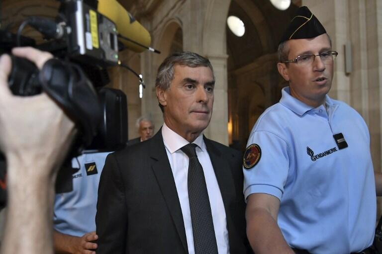 Jérôme Cahuzac arrives at the court on Monday