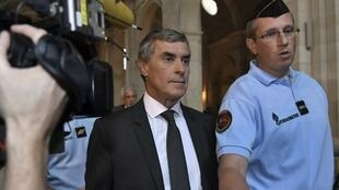 Jérôme Cahuzac arrives at the court on Monday
