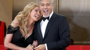 Julia Roberts y George Clooney en la alfombra roja de Cannes, este 12 de mayo de 2016.