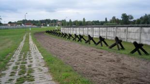 Un reste du mur en Hongrie à Hötensleben, à la frontière  interallemande. Photo prise le 6 septembre 2009.