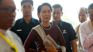 Aung San Suu Kyi, à Naypyidaw, le 19 septembre 2017.