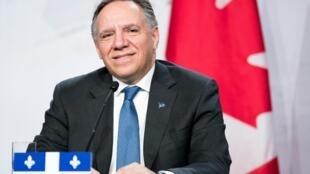 François Legault, le Premier ministre du Québec et chef de la Coalition avenir Québec.