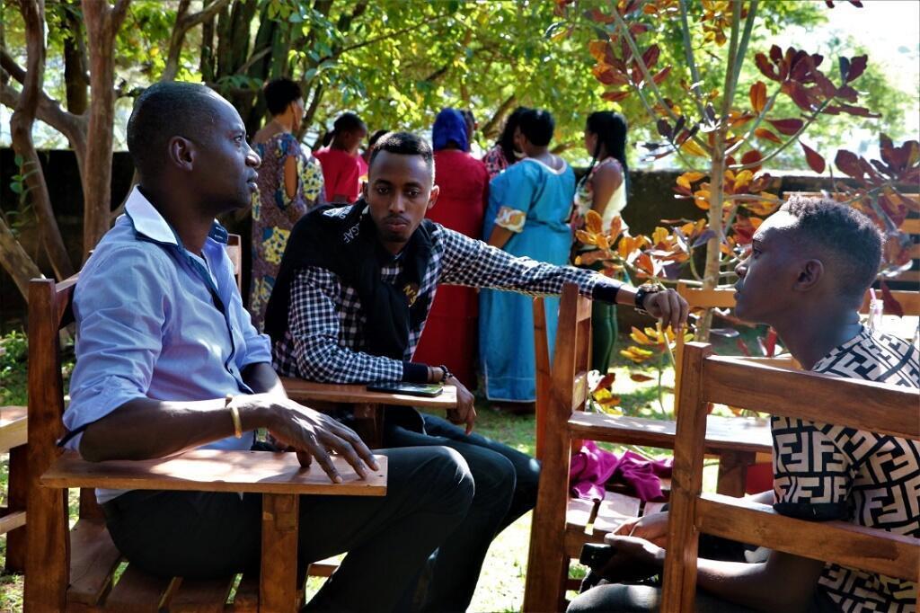 Dorcy Rugamba, en mars dans la maison familiale qui abrite Rwanda Arts Initiative.