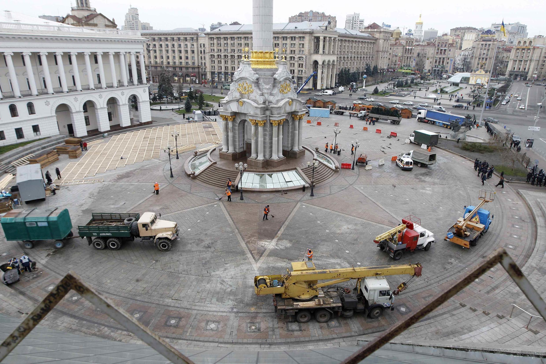 La place de l'Indépendance, le 30 novembre dans la journée.