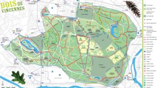 План Венсенского леса