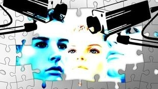 图为网络关于脸部辨识技术图片