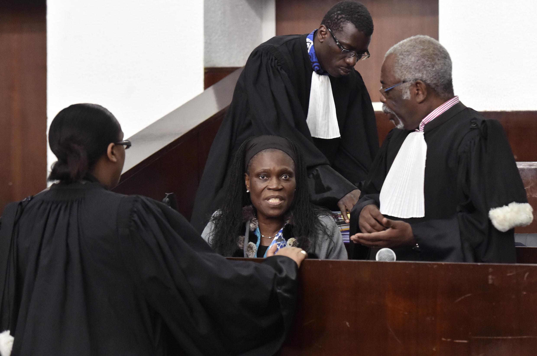 Simone Gbagbo lors de son procès en Côte d'Ivoire, le 27 juin 2016.