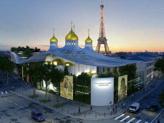 Проект русского центра с церковью на набережной Бранли в Париже