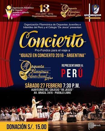 Cartel de uno de los conciertos de la orquesta