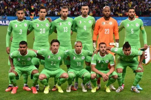 Le onze de départ de l'Algérie face à l'Allemagne lors du huitième de finale du Mondial 2014 au Brésil.