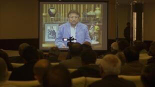 دیروز سه شنبه ٣١ دسامبر ٢٠١٣،  ویدئوی ضبط شده پرویز مشرف برای اهل مطبوعات و هوادارانش نمایش داده شد.