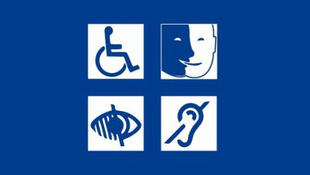 Logos representing types of disabilities for which facilities can provide services