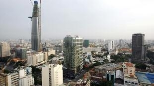 Vue du quartier d'affaires d'Hô-Chi-Minh-Ville.
