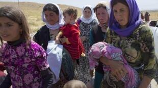Members of the minority Yazidi religious sect in Iraq.