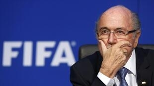 Sepp Blatter says he is determined to remain in charge.