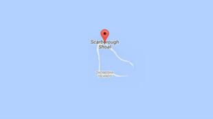 Đảo san hô Scarborough - hình chụp từ Google Maps ngày 12/07/2015