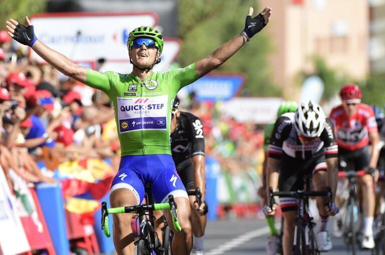 O ciclista italiano Matteo Trentin (Quick-Step Floors) venceu a décima terceira etapa da Volta a Espanha.