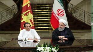 حسن روحانی، رییسجمهوری اسلامی ایران، روز یکشنبه ۱۳ مه/۲۳ اردیبهشت، در نشست مشترک خبری با همتای سریلانکایی خود در تهران