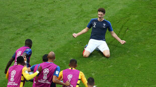 Benjamin Pavard scored his first goal for the France senior squad during the 4-3 win over Argentina in the last 16 at the 2018 World Cup in Russia.