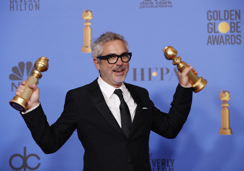 """""""Roma"""" le permitió ganar dos Globos de Oro a Alfonso Cuarón."""