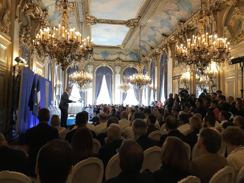 Lançamento do evento gastronômico Goût de France 2019 no Ministério das Relações Exteriores, em Paris.