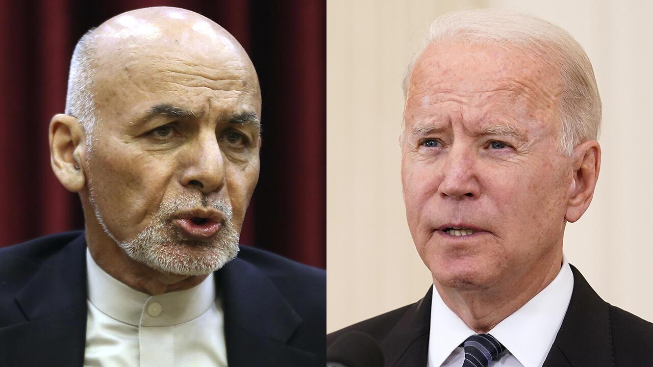 PHOTO Ashraf Ghani et Joe Biden