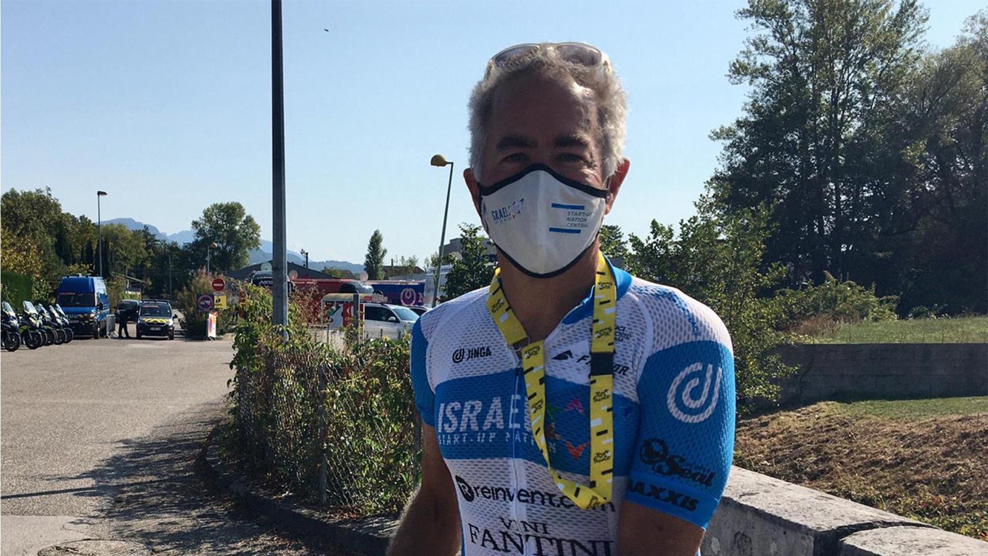 Sylvan Adams, le co-fondateur de l'équipe Israel Start-Up Nation, le 17 septembre 2020 lors du Tour de France.
