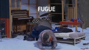 <i>Fugue, </i>théâtre musical, du metteur en scène français Samuel Achache, qui se joue jusqu'au 24 janvier 2016, au Théâtre des Bouffes du Nord à Paris. (Copie Ecran).
