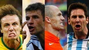 'yan wasan Brazil, Jamus, Holland da Argentina