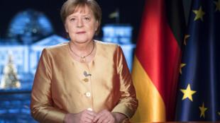 德國總理默克爾 Angela Merkel 2020年12月30日在柏林