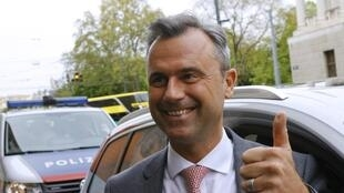 Austria's extreme right Freedom Party presidential candidate, Norbert Hofer.