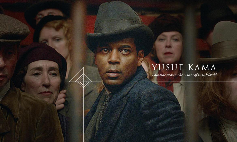 William Nadylam dans le rôle de Yusuf Kama pour le film Fantastic Beasts: The Crimes of Grindelwald.