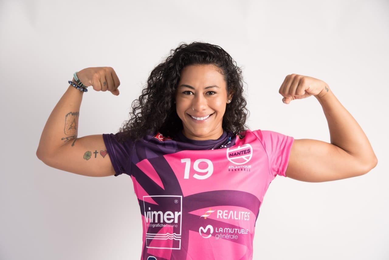 Elaine Gomes, um dos destaques internacionais do Nantes Atlantique Handball