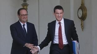 French President François Hollande and Prime Minister Manuel Valls on Tuesday