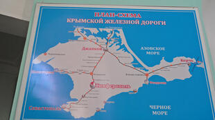 La carte des lignes de chemins de fer à simferopol