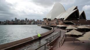L'opéra de Sydney, en Nouvelle Galles du Sud en Australie, le 26 mars 2020.