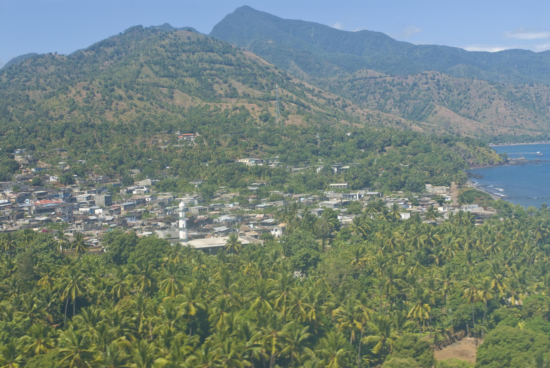 Une vue aérienne d'Anjouan, aux Comores (photo d'illustration).