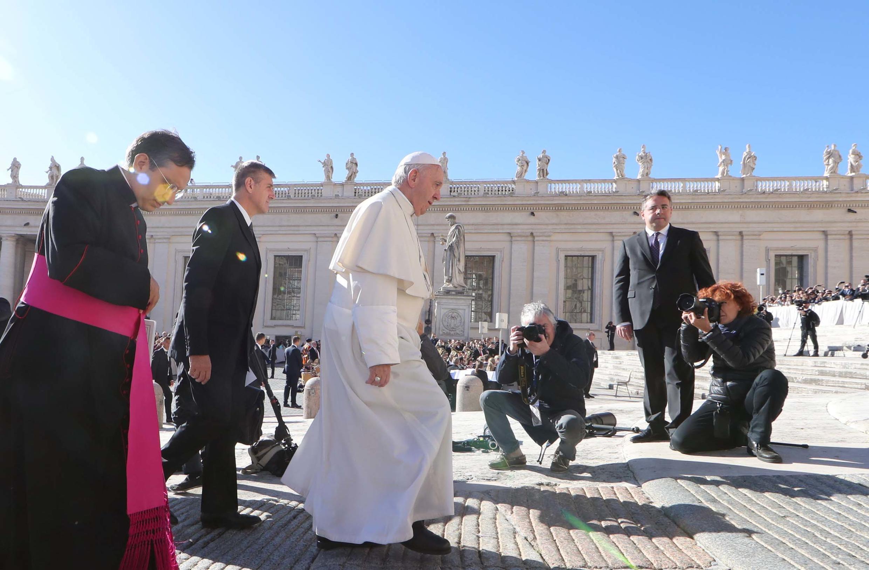 Giáo hoàng Phanxicô tại quảng trường Thánh Phêrô, Vatican, ngày 26/06/2018.
