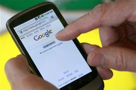 Wata wayar Salula dake nuna shafin kafar sadarwar Google.