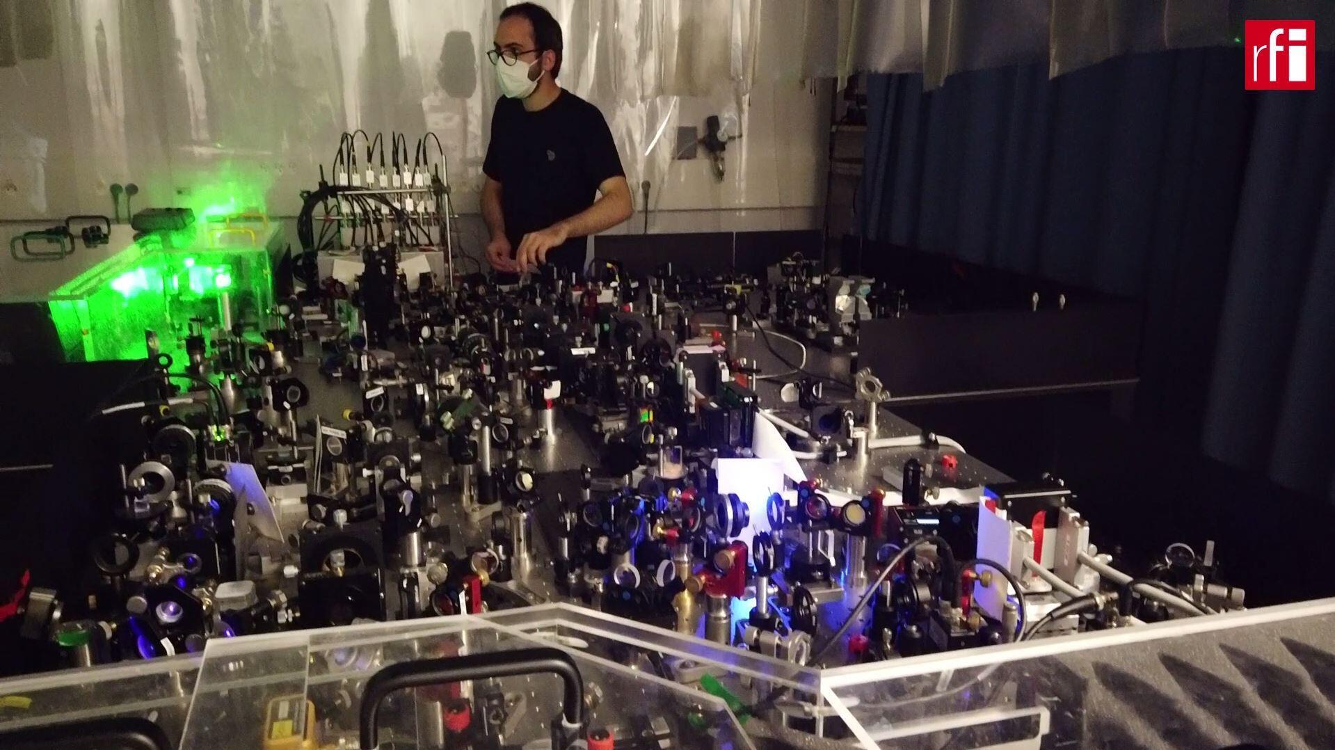 Searching for a single photon: Professor Nicolas Treps at the Sorbonne's Kastler Brossel Laboratory works on the complex procedure of processing quantum information.