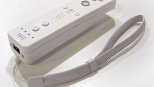 El mando de la consola Wii.