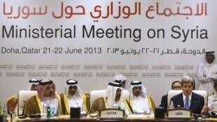 Líderes do grupo de Amigos da Síria reúnem-se em Doha ( Catar).
